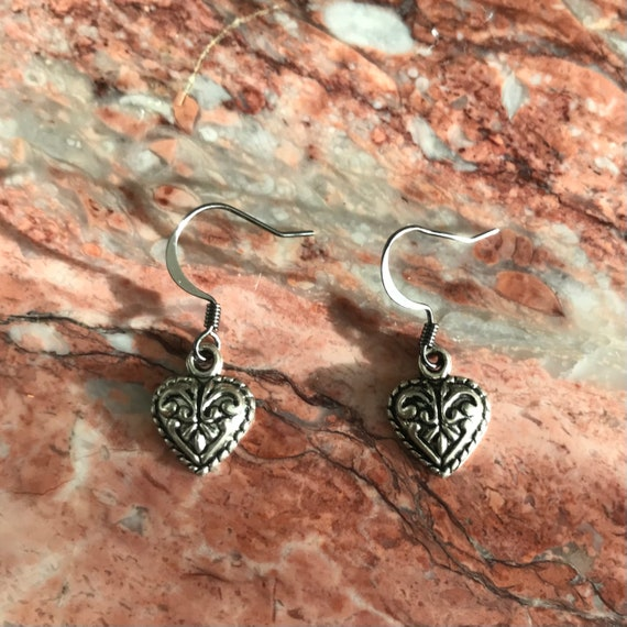 Scrollwork Heart Earrings