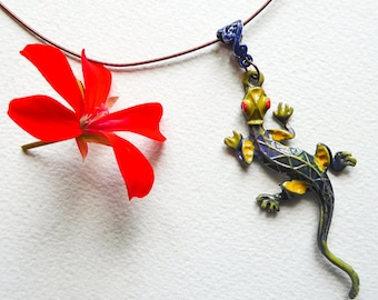Flowers collaradaptable antiallergic circleneck-high small multicolored flowers.upcycling.recycled