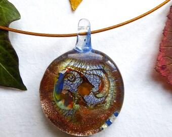 Neck collar with Murano Aqua Murano glass pendant