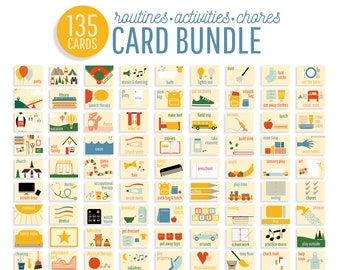 Routine cards etsy