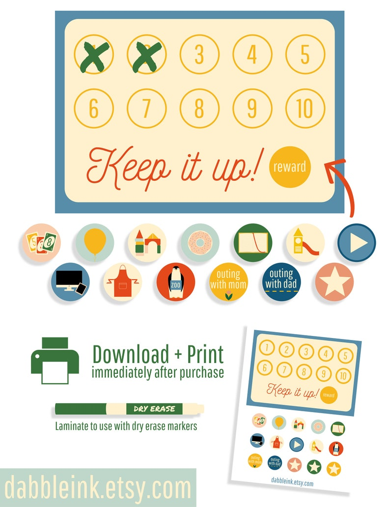 photo about Toddler Reward Chart Printable called Benefit Chart I Little ones Gain Course of action I Advantage Card I Profit Chart Printable I Infant Incentive Chart I Non Foodstuff Advantages