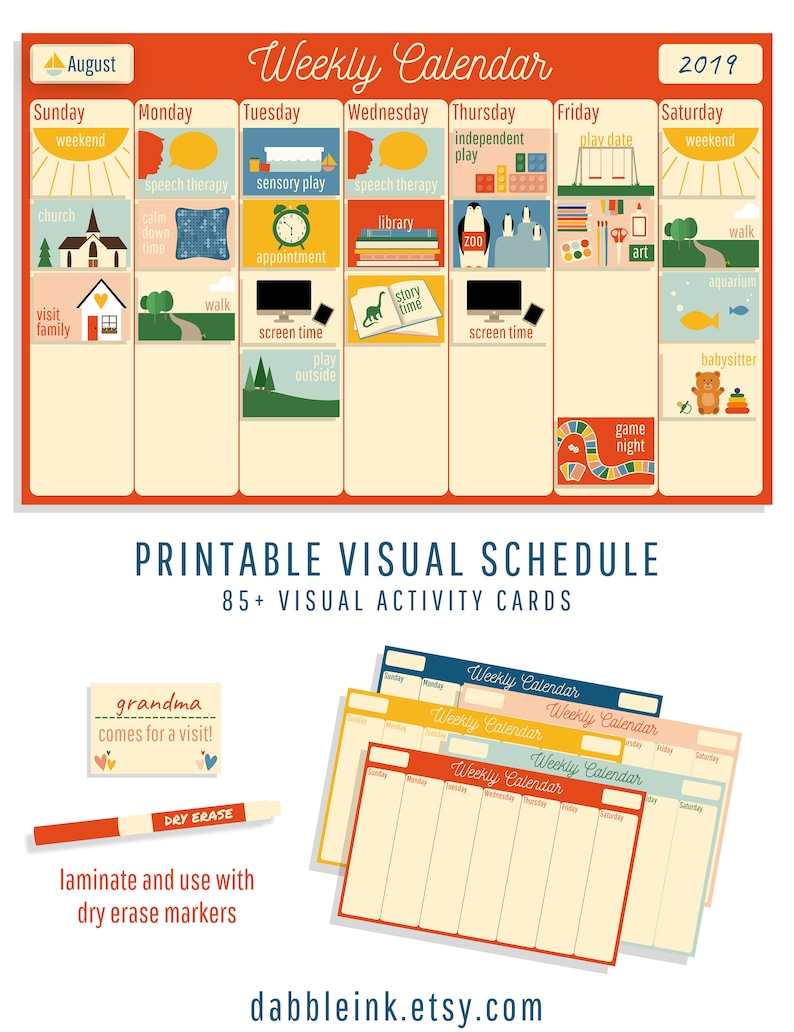photo regarding Printable Visual Schedule Pictures known as Visible Agenda I Autism I Delayed Speech I Weekly Agenda Playing cards I One of a kind Necessities Calendar I Visible Recreation Planner I Envision Timetable