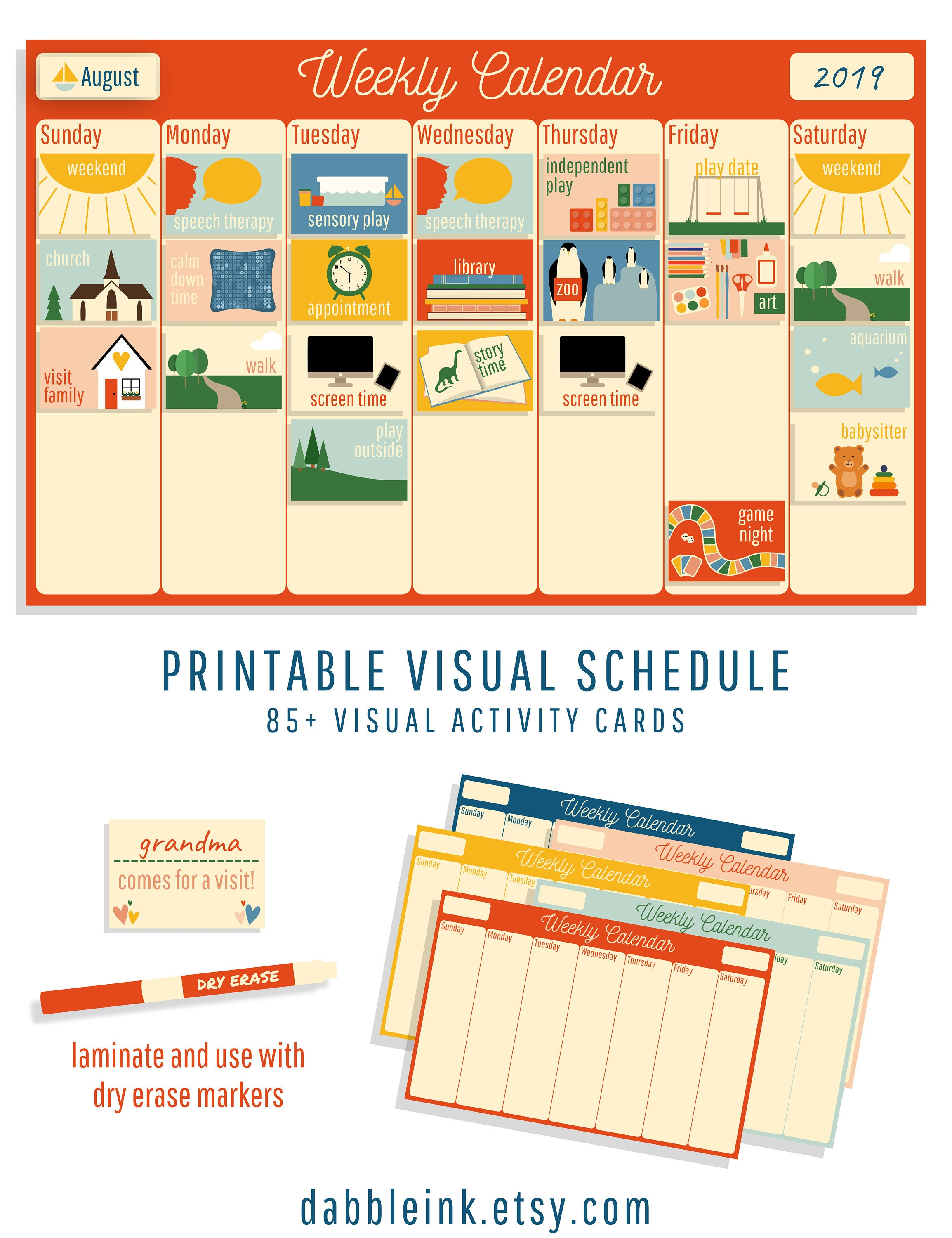 photograph relating to Printable Visual Schedule titled Visible Timetable I Autism I Delayed Speech I Weekly Plan Playing cards I Exclusive Desires Calendar I Visible Match Planner I Imagine Agenda