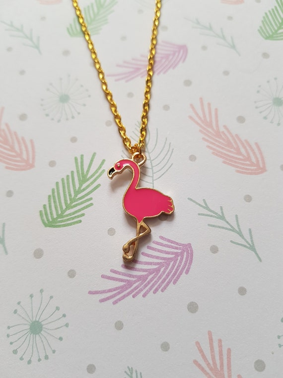 Hot Pink Flamingo Custom Engraved You are more Loved Heart Locket Necklace