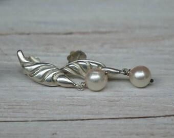 Ohrringe Perlenohrringe Silber mit Akoya-Perlen **** pearl earrings silver with akoya-pearls