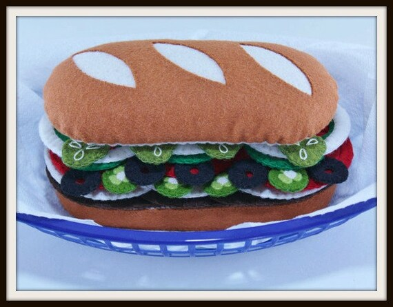 Felt Food Toys R Us : Felt sub sandwich food pattern