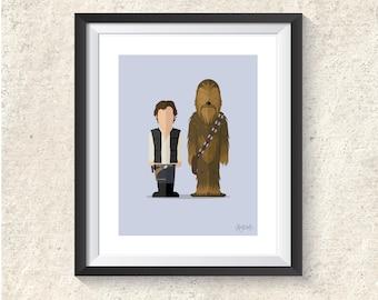 Featureless Portrait - Han & Chewie