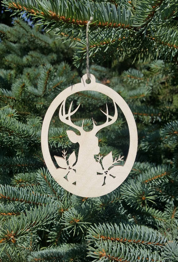 Deer Ornament Wooden Christmas Decorations Christmas Tree Decor Holiday  Embellishment Laser Cut Deer Xmas Home Decor Wood Animal Decor