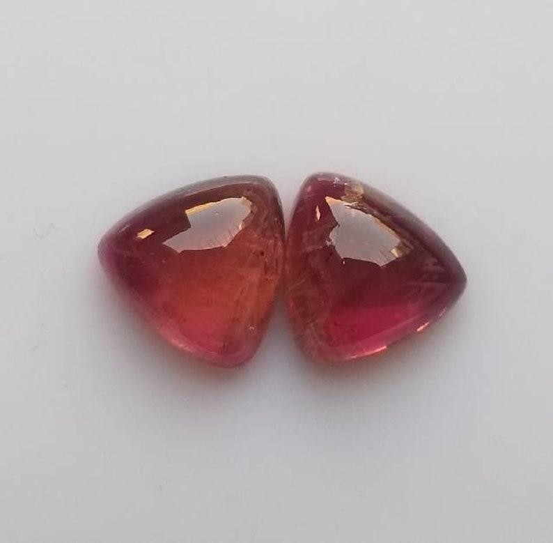 9x9 mm Natural Cabochon Calibrated Gemstone  Outstanding Tourmaline Cabochon Trillion Shape  Semi Precious Cabochon Loose Gemstone