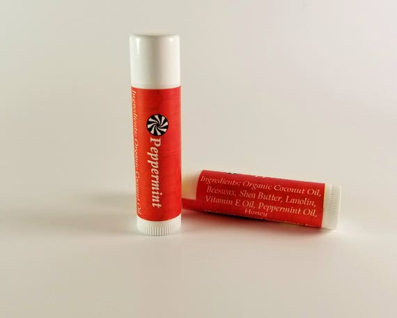 Lip Balm Peppermint Scent Natural with Peppermint Essential Oil