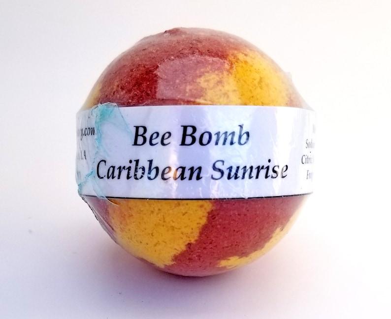 Bath Bomb 7oz Bee Bomb made with honey extra large Caribbean image 0