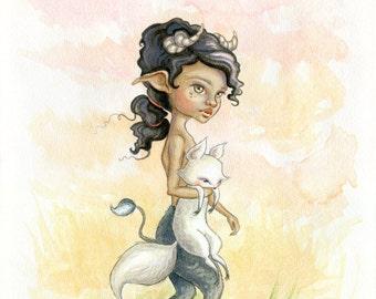 Satyr & Fox (Giclee Print)