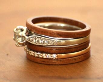Koa Stackable Bentwood Ring
