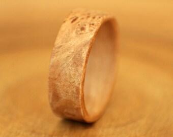 Maple Burl Bentwood Ring - Handmade