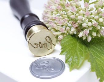 Hand Lettered Love Wax Seal