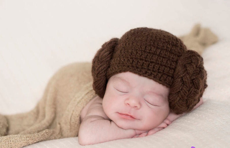 2afbca89036 Princess Leia Baby Hat Star Wars Leah Hair Wig Hamdmade