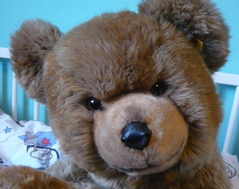 Original Steiff Bear, Brown Bear, Grizzly, Stuffed Animal