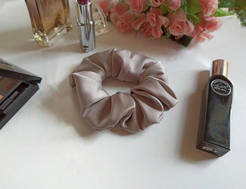 wholesale silk headband Ponytail holder Large scrunchies for bulk hair Set of 6 silk hair scrunchies Womans hair scrunchies Hair ties