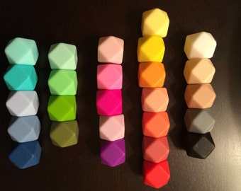 Hexagon Silicone Beads