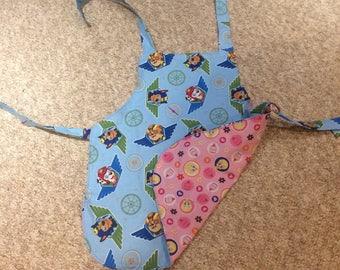 Child's reversible apron - Paw Patrol and Tweety Bird