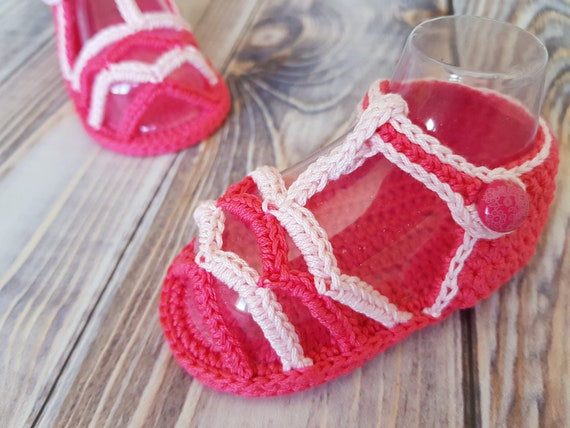 Crochet Baby Pattern Sandals Baby Sandals Pattern Summer Etsy
