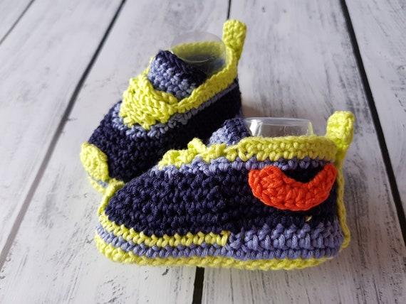 e35f8c5c64f313 Crochet PATTERN Nike style baby sneakers crochet sneakers