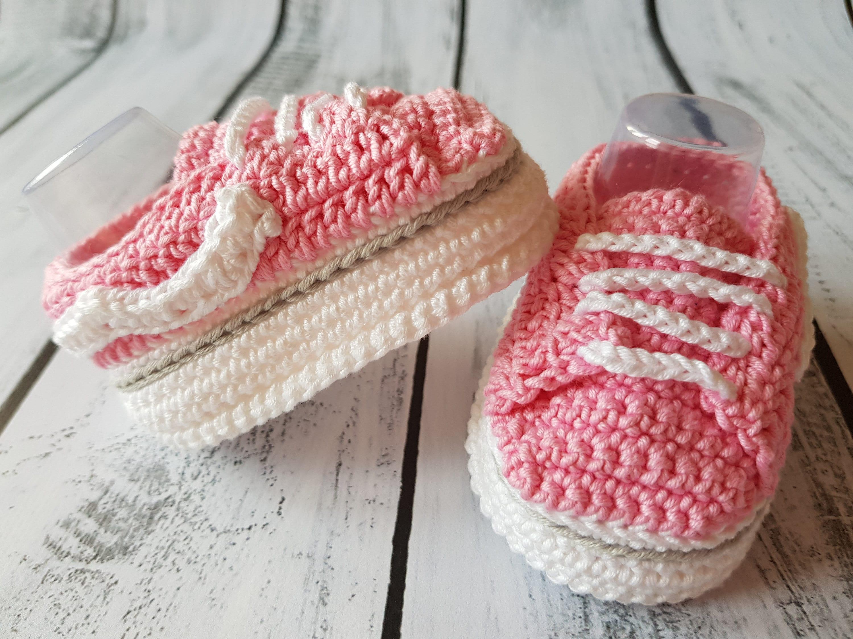 5577134762 Vans style pattern baby crochet newborn sneakers baby etsy jpg 3000x2250  Baby girl vans