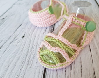 Crochet baby sandals PATTERN. Summer Striped Sandals. INSTANT DOWNLOAD