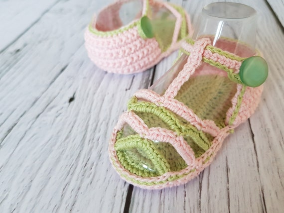 Crochet Baby Sandals PATTERN Summer Striped Sandals INSTANT Etsy Custom Crochet Baby Sandals Pattern