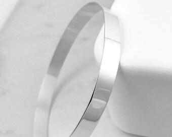 Sterling Silver Bangle   Wide Silver Bracelet   Wide Bracelet   Simple silver Bracelet   Classic traditional silver bracelet   Simple bangle