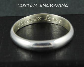 Ring engraving | Add-on engraving | Wedding ring engraving | Custom engraving | Professional engraving | Inside ring engraving