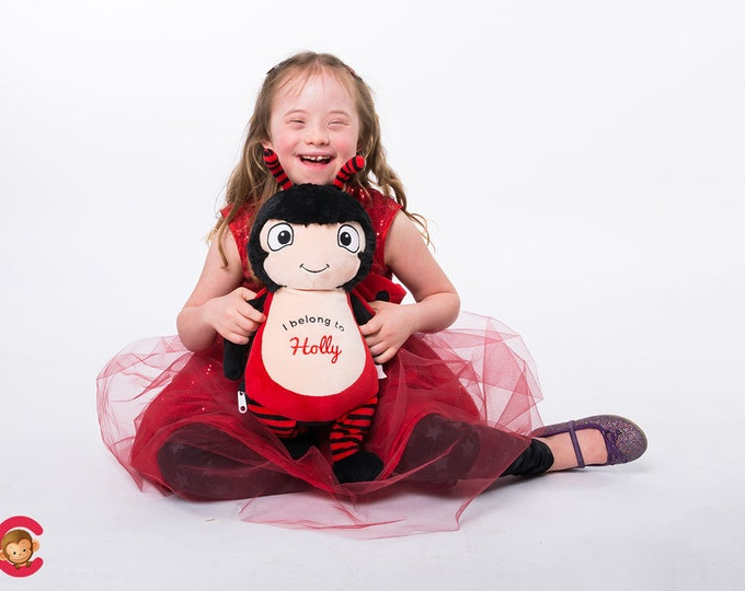Personalized Biggleton Ladybug Cubbie Baby Embroidered Cubbies Stuffed Animal