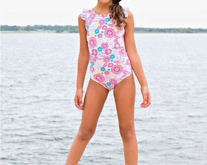 Blooming Buttercups Ruffle Strap One Piece