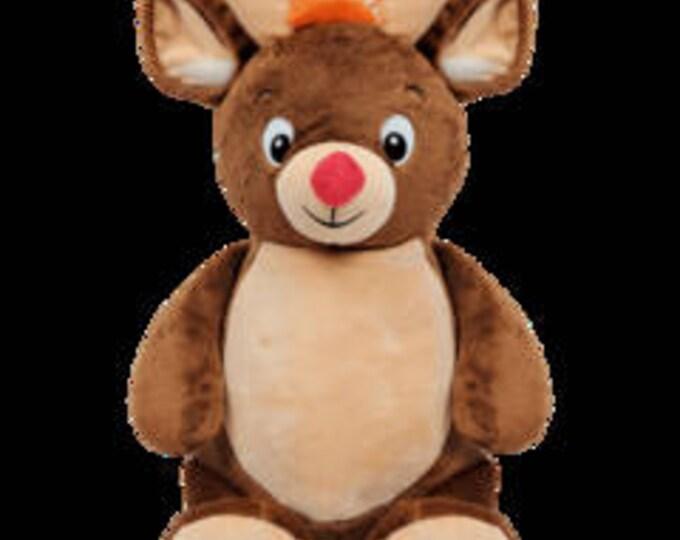 Personalised reindeer cubbie christmas ,babies 1st christmas , personalised teddy , baby christmas gift , babies first christmas