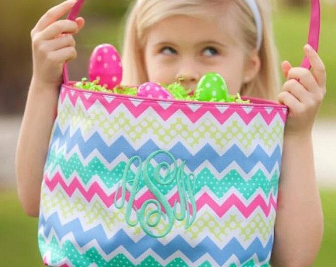 Easter Bucket - Easter Basket - Easter  Bag, Monogrammed Easter Baskets, Personalized Easter Buckets,Loopty Lou Easter Bucket,Zaggie Maggie