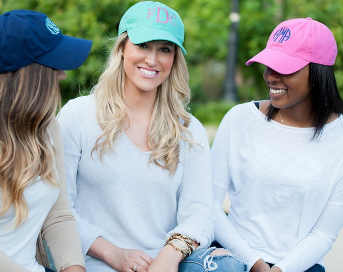 Monogrammed Unstructured  Cap, Gift for her, Mothers Day, Birthday Gift,bridesmaids hats, bridesmaid gift