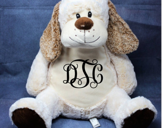 Personalized Baby Gift, personalized Classic Clara collection Dog stuffed ,Embroider Buddy, plush keepsake embroidered birth announcement,