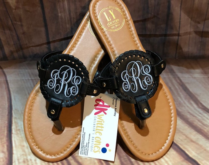 Monogrammed Disk Sandals - Personalized Interchangable Disc Sandals - Ladies Medallion Shoes- print disk sandals- floral sandals