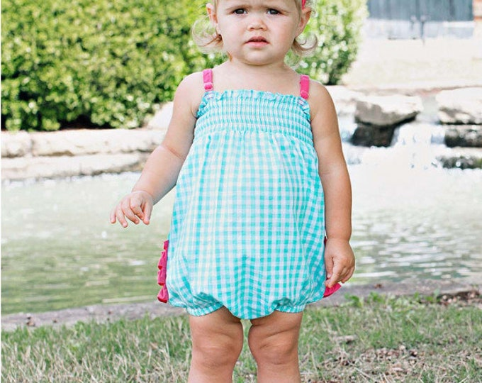 Seafoam-Gingham-Rouched-Bubble-Romper