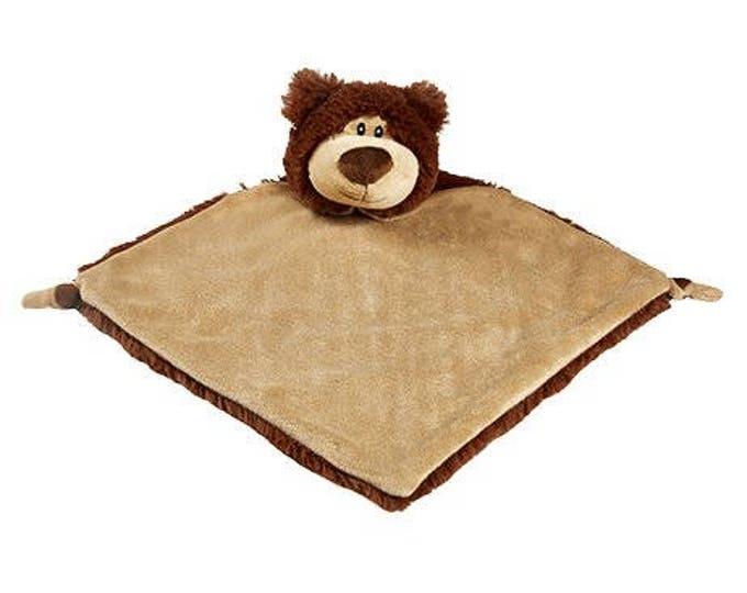 Personalized Brown Bear Valentine Lovey, Reindeer Lovey,Penguin Wee Snuggle Blankie, Cubbie Blanket