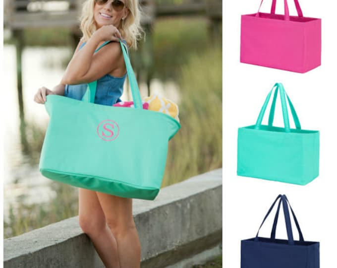 Monogrammed Ultimate Tote, Personalized Tote Bag, Monogrammed Utility Tote, Monogrammed Travel Bag, Grocery Bag, Bridesmaid Gifts