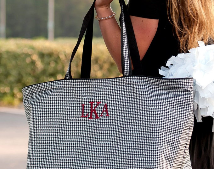 Monogrammed Ultimate Tailgate  Tote, Personalized Tote Bag, Monogrammed Travel Bag,Football Tailgating, Bridesmaid Gifts