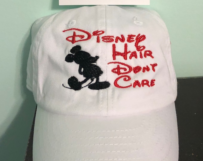 Disney Hair Don't Care Kid's Baseball Hat Youth  Embroidered Initials Ball Cap Beach Trucker Personalized Hat Gift