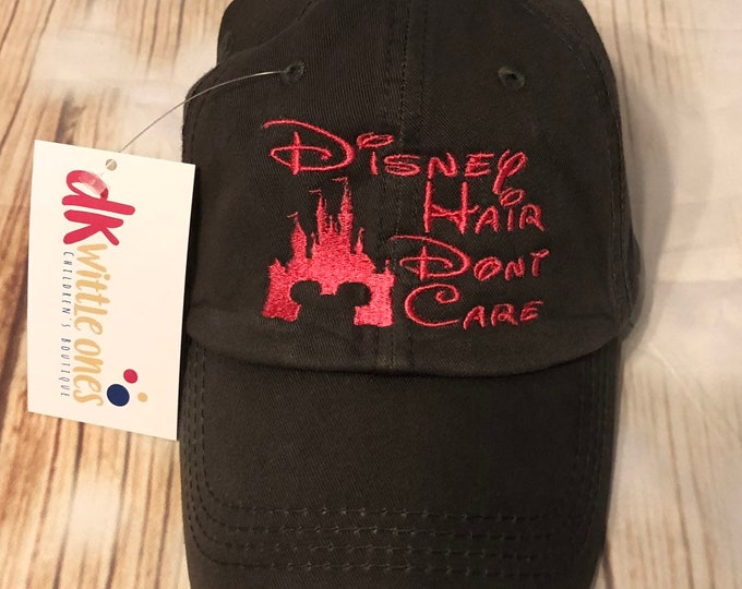 Disney Hair Don't Care Solid Cotton Back High Ponytail Cap, ponytail baseball hat,messy bun baseball hat,Bridesmaid Gift,Mothers day gift
