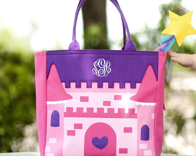 Princess Castle Halloween Tote , Monogrammed Tote Bag, Personalized Bag