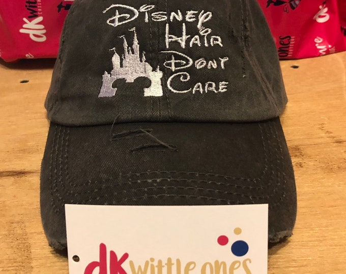 Disney Hair Dont Care ball cap Gift for her, Mothers Day, Birthday Gift,bridesmaids hats, bridesmaid gift