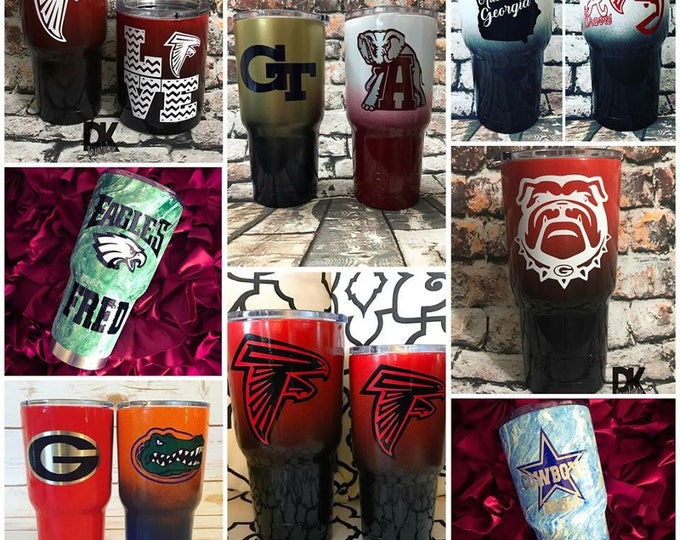 Powder Coated 30 oz Double Insulated Stainless Steel Tumbler,Gift for him,gift for her,Papa Bear,Georgia,mama bear,wedding,Kids Cup