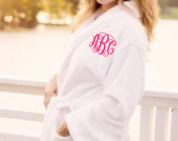 Ladies Robe Bride Robe Mothers Day Gift Bath Robe Plush Robes Embroidered Robes Personalized Robes Monogrammed Robes