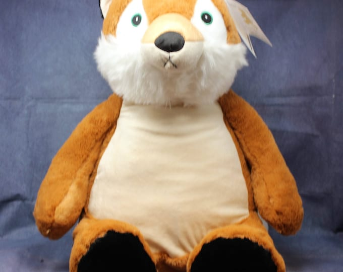 Jumbo Frederick Buddy Fox, Baby Shower gift, Birthday gift of all ages, Embroidered , personalized