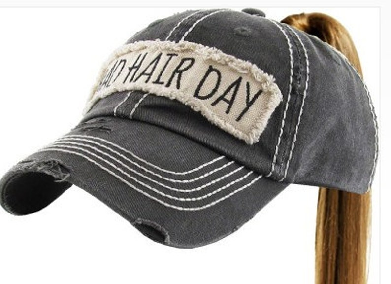 6117a7b499177 Bad Hair Day High Ponytail Cap ponytail baseball